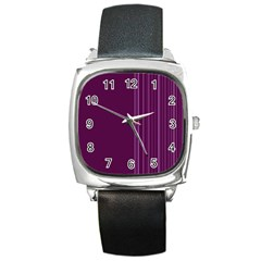 Lines Square Metal Watch