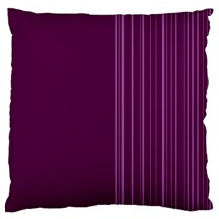 Lines Large Flano Cushion Case (Two Sides)