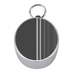 Lines Mini Silver Compasses
