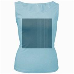 Lines Women s Baby Blue Tank Top