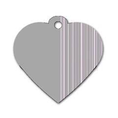 Lines Dog Tag Heart (One Side)