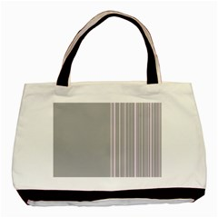 Lines Basic Tote Bag (two Sides)
