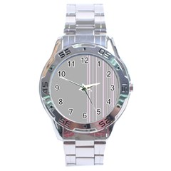 Lines Stainless Steel Analogue Watch