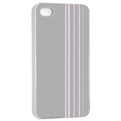 Lines Apple iPhone 4/4s Seamless Case (White)