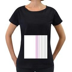 Lines Women s Loose-Fit T-Shirt (Black)