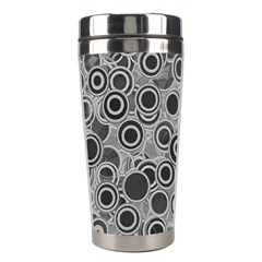 Abstract Grey End Of Day Stainless Steel Travel Tumblers