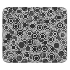 Abstract Grey End Of Day Double Sided Flano Blanket (Small)