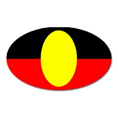 Flag Of Australian Aborigines Oval Magnet