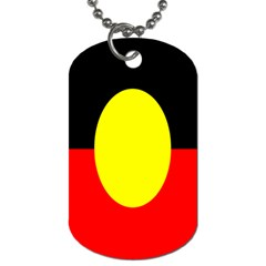 Flag Of Australian Aborigines Dog Tag (two Sides)