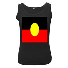 Flag Of Australian Aborigines Women s Black Tank Top