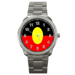 Flag Of Australian Aborigines Sport Metal Watch