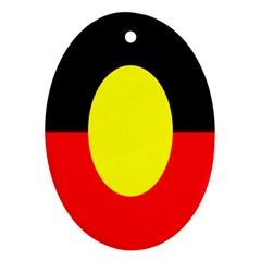 Flag Of Australian Aborigines Oval Ornament (two Sides)
