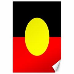 Flag Of Australian Aborigines Canvas 20  X 30