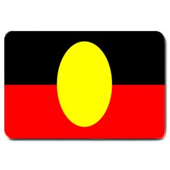 Flag Of Australian Aborigines Large Doormat
