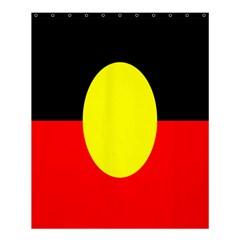 Flag Of Australian Aborigines Shower Curtain 60  X 72  (medium)