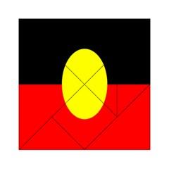 Flag Of Australian Aborigines Acrylic Tangram Puzzle (6  X 6 )