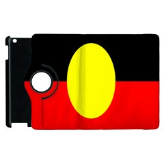 Flag Of Australian Aborigines Apple Ipad 2 Flip 360 Case