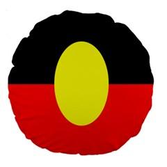 Flag Of Australian Aborigines Large 18  Premium Round Cushions