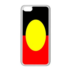 Flag Of Australian Aborigines Apple Iphone 5c Seamless Case (white)