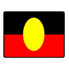 Flag Of Australian Aborigines Double Sided Fleece Blanket (small)