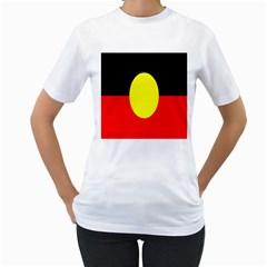 Flag Of Australian Aborigines Women s T Shirt (white)