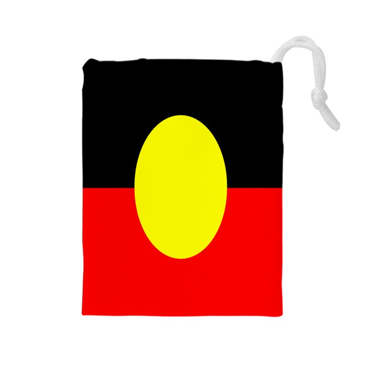 Flag Of Australian Aborigines Drawstring Pouches (Large)
