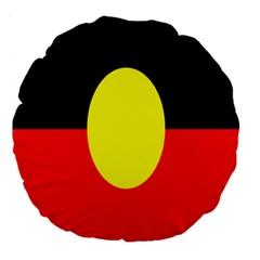 Flag Of Australian Aborigines Large 18  Premium Flano Round Cushions