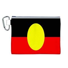 Flag Of Australian Aborigines Canvas Cosmetic Bag (l)