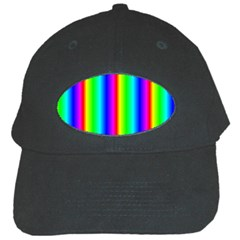 Rainbow Gradient Black Cap