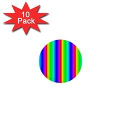 Rainbow Gradient 1  Mini Buttons (10 Pack)