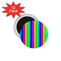 Rainbow Gradient 1 75  Magnets (10 Pack)