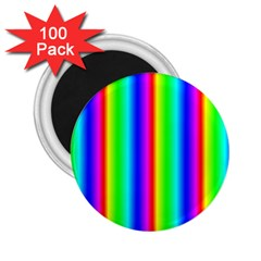 Rainbow Gradient 2 25  Magnets (100 Pack)
