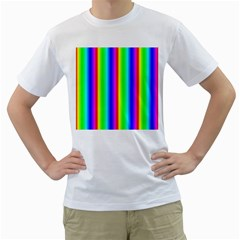 Rainbow Gradient Men s T Shirt (white) (two Sided)