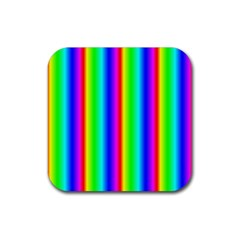 Rainbow Gradient Rubber Coaster (square)