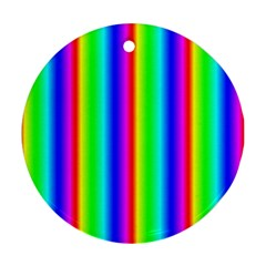 Rainbow Gradient Round Ornament (two Sides)