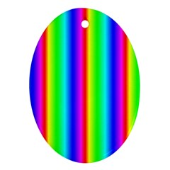 Rainbow Gradient Oval Ornament (two Sides)