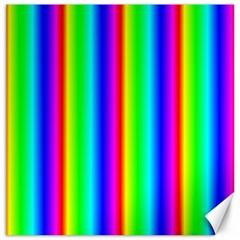 Rainbow Gradient Canvas 16  x 16