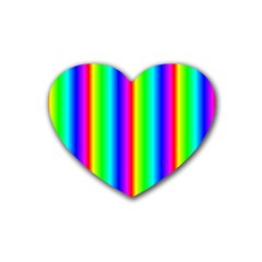 Rainbow Gradient Heart Coaster (4 Pack)