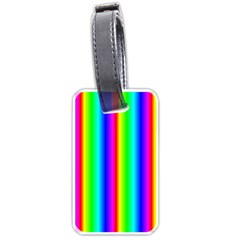 Rainbow Gradient Luggage Tags (one Side)