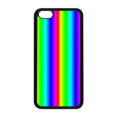 Rainbow Gradient Apple Iphone 5c Seamless Case (black)