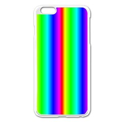 Rainbow Gradient Apple Iphone 6 Plus/6s Plus Enamel White Case