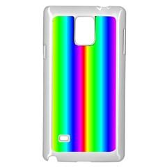 Rainbow Gradient Samsung Galaxy Note 4 Case (white)