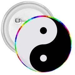 Rainbow Around Yinyang 3  Buttons