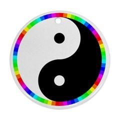 Rainbow Around Yinyang Ornament (round)