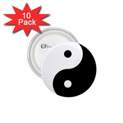 Rainbow Around Yinyang 1 75  Buttons (10 Pack)
