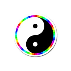 Rainbow Around Yinyang Magnet 3  (round)
