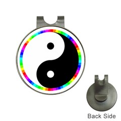 Rainbow Around Yinyang Hat Clips With Golf Markers