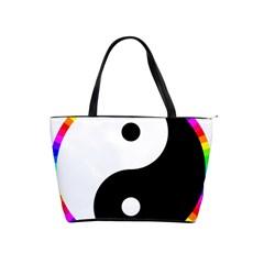 Rainbow Around Yinyang Shoulder Handbags