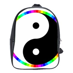 Rainbow Around Yinyang School Bags(large)