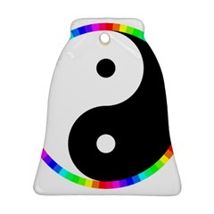 Rainbow Around Yinyang Bell Ornament (two Sides)